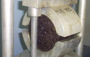 Briqueta, núcleo de Asfalto, Ensayo Marshall