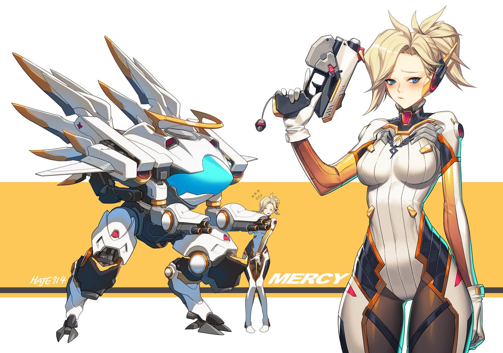 The Games of Chance: Overwatch fan art! Mercy! Mei! A ...
