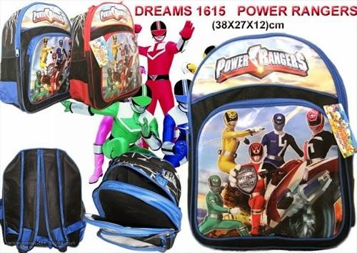 Tas Ransel Sekolah Anak TK dan SD Dreams 1615 Power Rangers Terbaru Murah dan Bagus