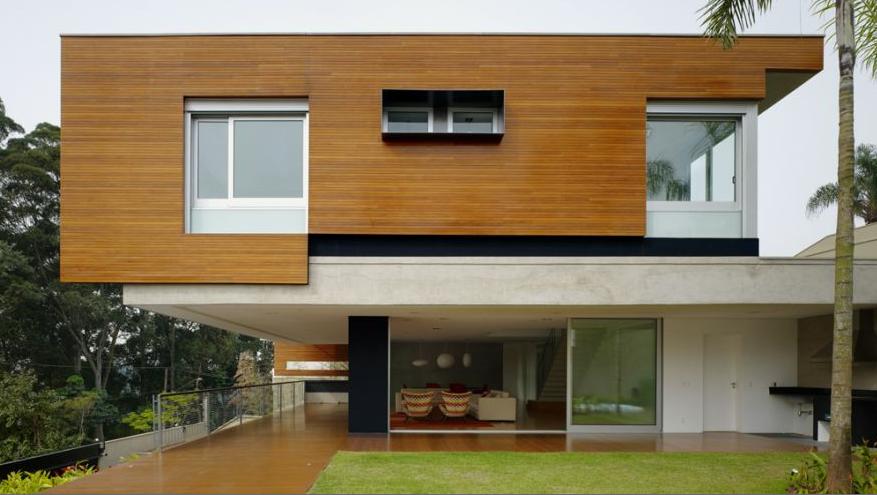 Diseno de casa con madera dise o de casas home house design - Casas de diseno ...