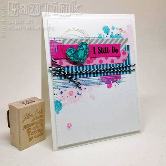 Distressed Patterns, Love You More, and Lisa Johnson Designs All Heart stamp set - Janine Tinklenberg #mftstamps