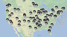 "The Lyrics of Johnny Cash's ""I've Been Everywhere"" Charted on a Dynamic Google Map"
