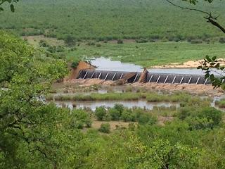 Bij Engelhartdam in de Letaba rivier zijn de watermassa's helemaal spectaculair.