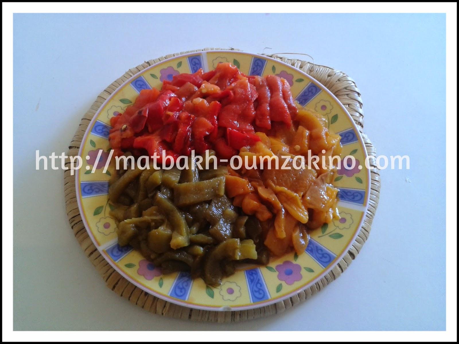 salade marocainne trois poivrons matbakh oumzakino