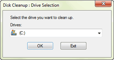 disk cleanup to make windows run faster