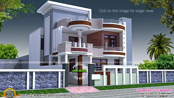 2875 Square Feet Flat Roof Home Keralahousedesigns