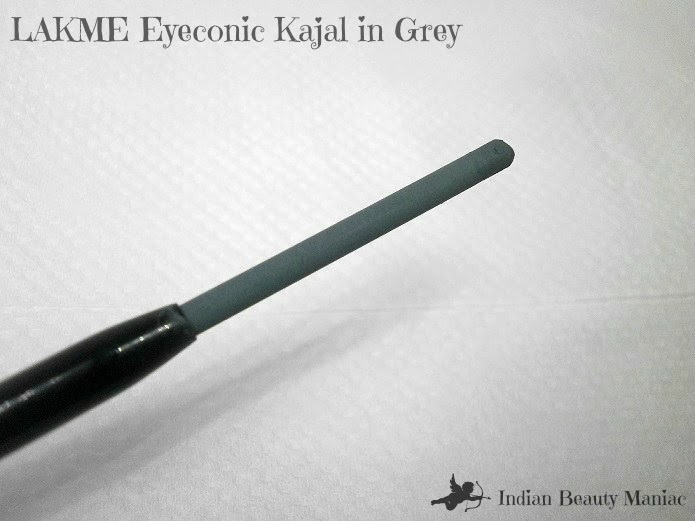 Lakme eyeconic pencil in grey color swatch