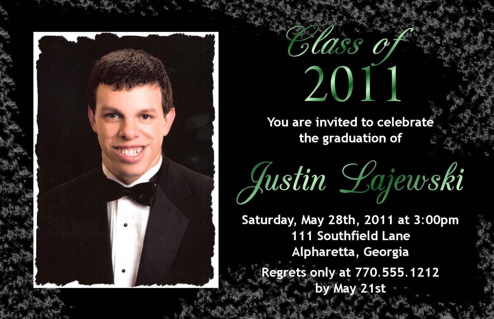 Announcement Graduation Invitation Examples