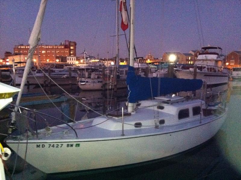 Boat name: Wind Rose / Make, model, year: Pearson, Triton hull# 215, 1963