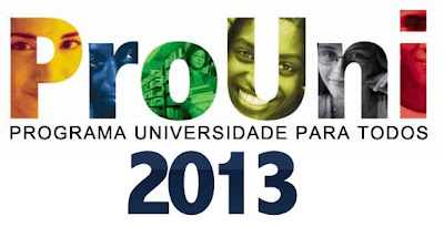 WWW.VESTIBULARES/PROUNI2013