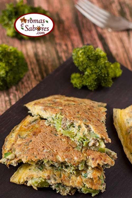 omelete de brocolis com ervas