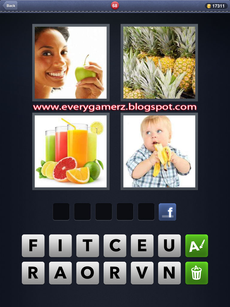 how to play 4 pics 1 word