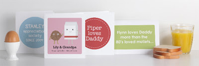 Mooo personalised printable Father's Day cards