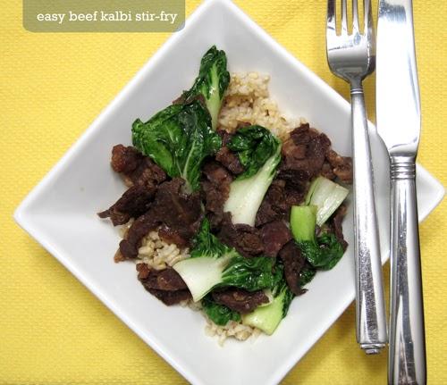 Forty Weeks: Food: Easy Beef Kalbi Stir Fry