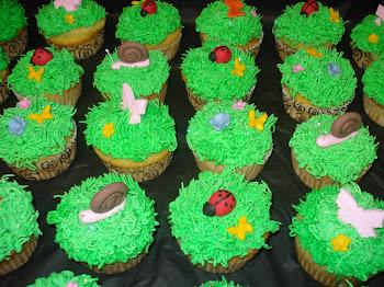 Green Garden Cupcakes