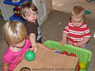 Infant & Toddler Fun: Balls, Bells, a Basket, and a Box