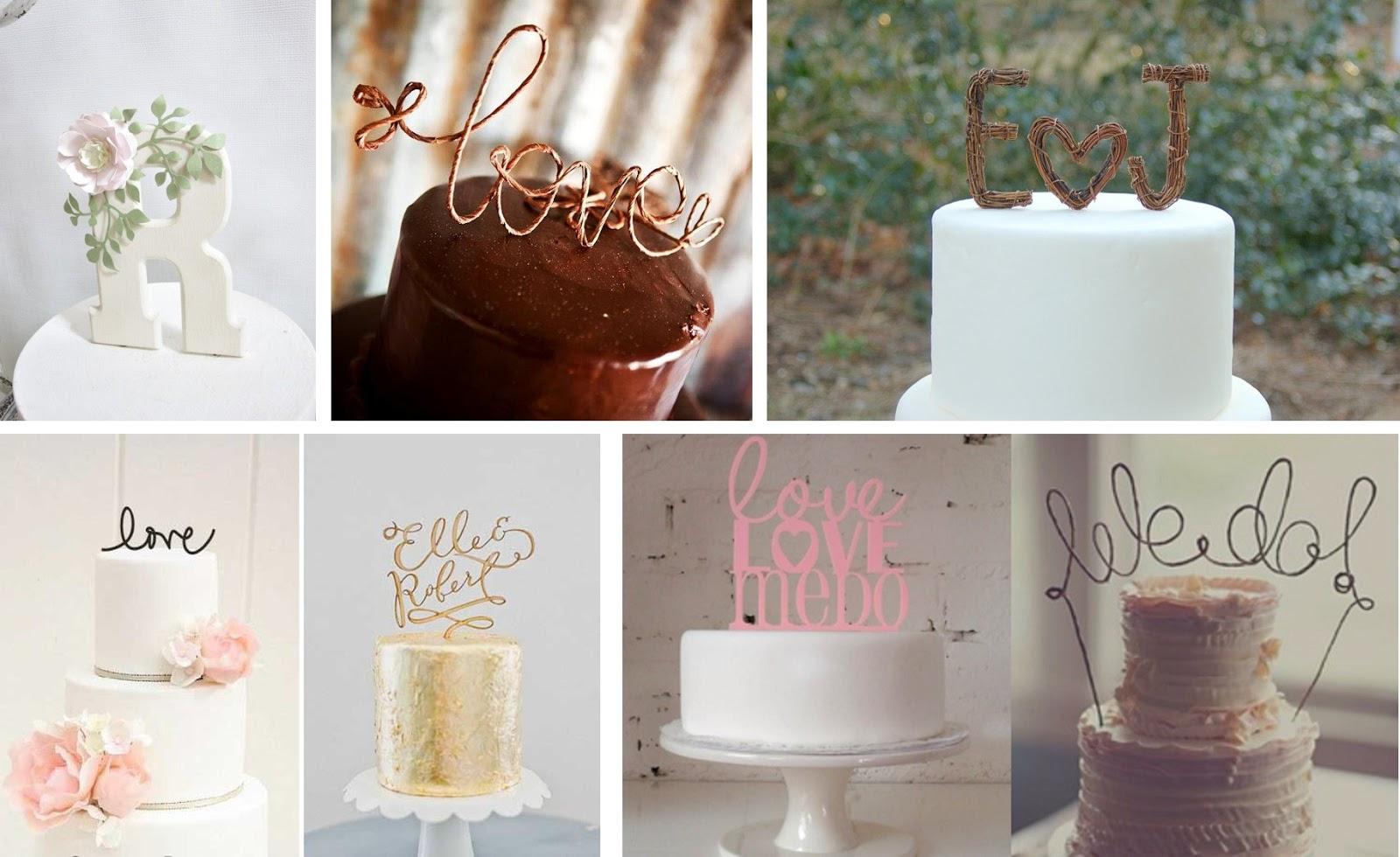 Toppers para tartas con letras y mensajes