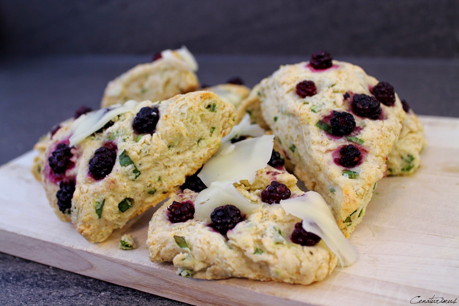 Scallion-Blackberry-Scones