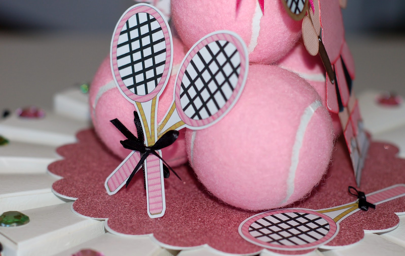 Paper Creations By Kristin Tennis Party Themed Paper Cake