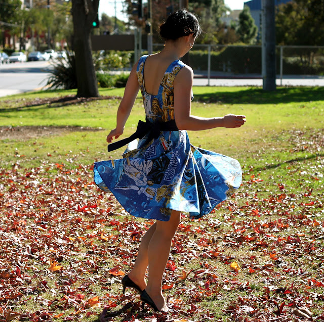 What's better than a Star Wars dress? A Star Wars dress that twirls well!