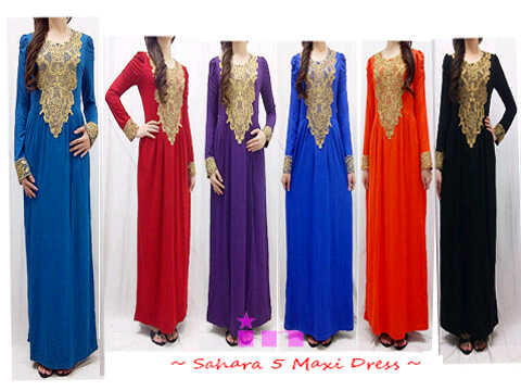 Sahara maxi dress grosir