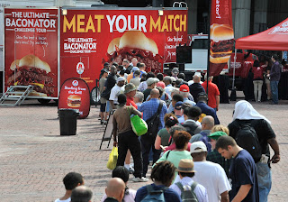 WhatYoureMissingKC.blogspot.com : Ultimate Baconator Challenge event at Barney Allis Plaza in Kansas City