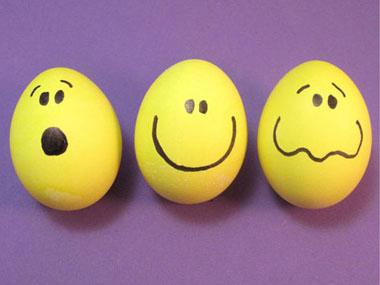 Великденски яйца за деца - Яйчица с личица
