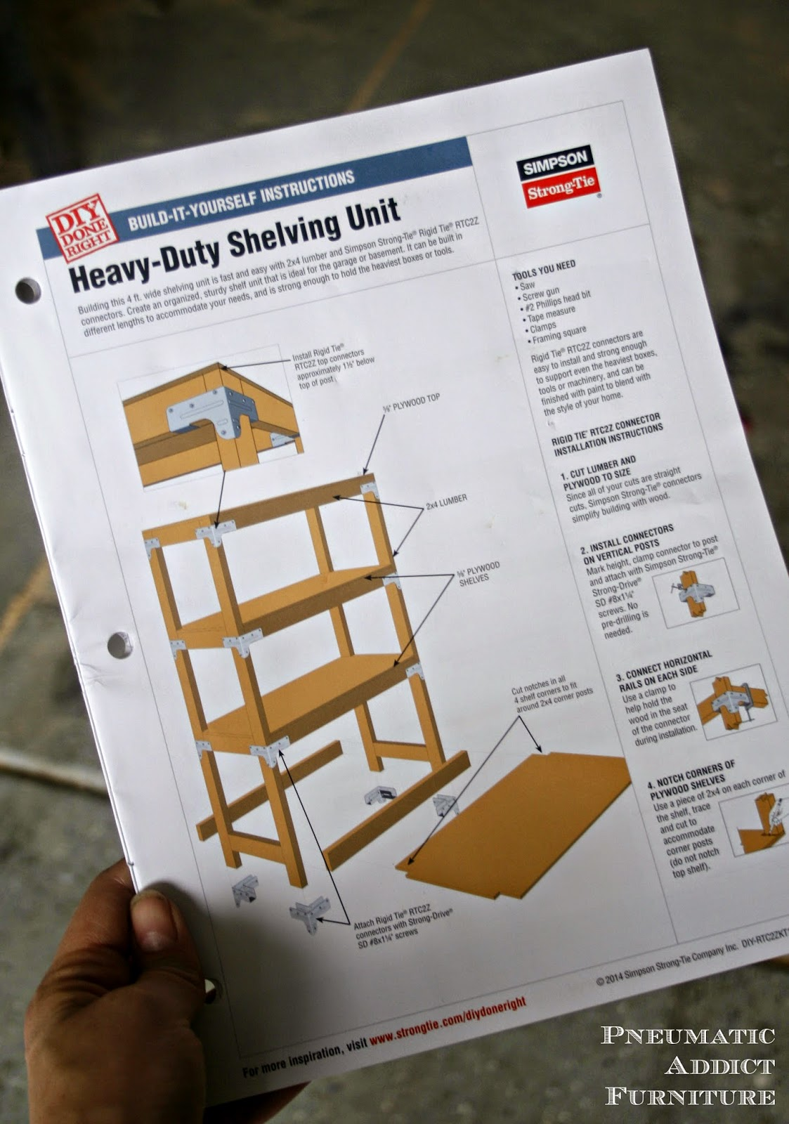 pneumatic addict easy heavy duty shelving plus giveaway