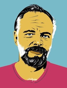 Ritratto di Philip K. Dick disegnato da Peter Welsch