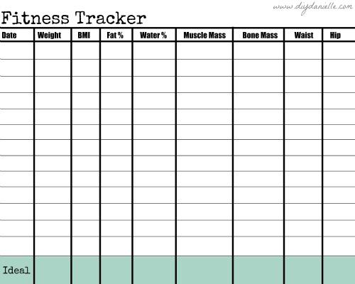 blank weekly chart
