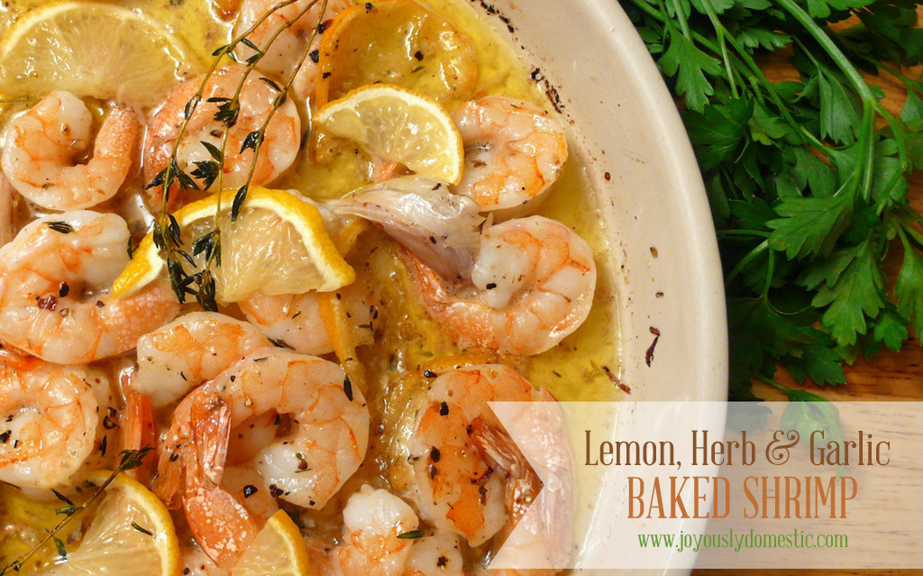 Roasted Lemon Garlic Herb Shrimp Recipes — Dishmaps