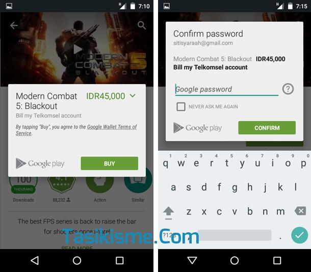 Cara membeli game android pakai pulsa