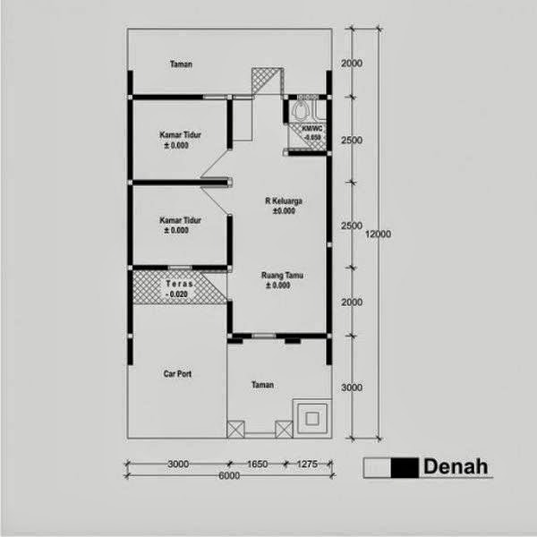 Denah Rumah Minimalis Type 36 a