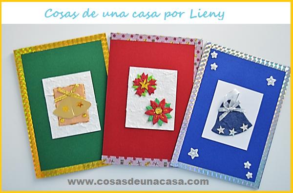 Cosas de una casa como hacer unas lindas tarjetas de for Crear tarjetas de navidad