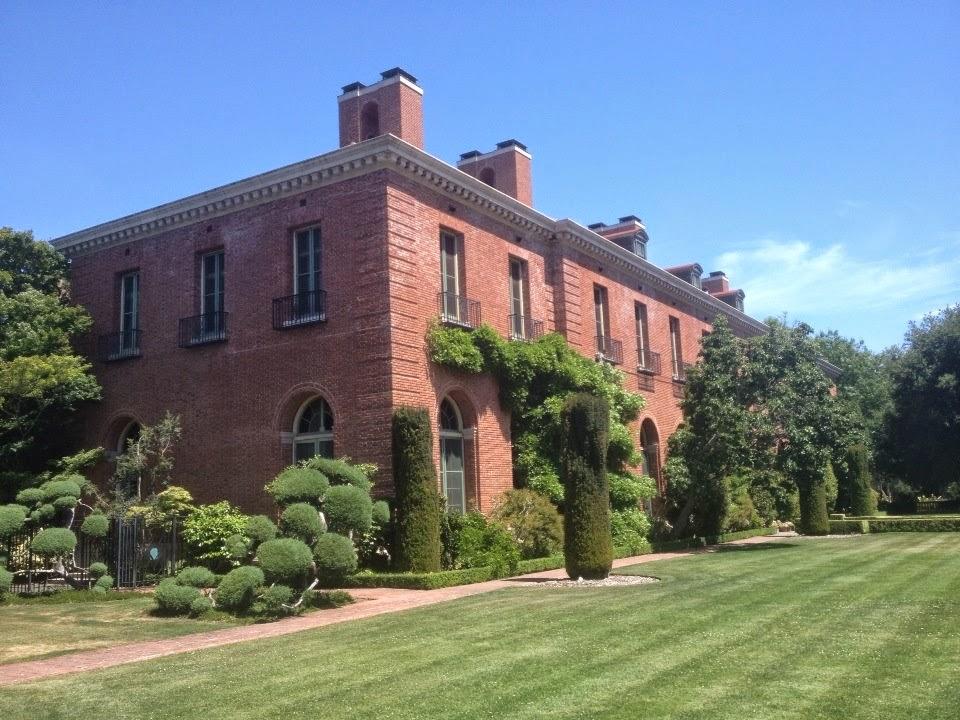 Mansion garden California