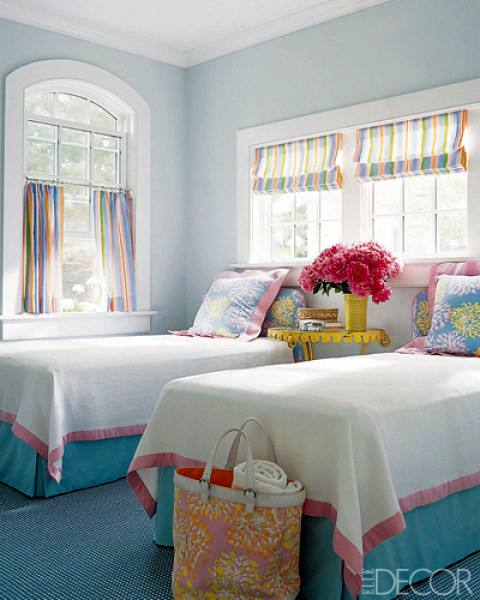 Twice as nice living with twin beds for Bedroom ideas elle decor