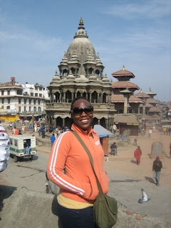 Officer Lassiter in Kathmandu, Nepal, on her way to Damak, Nepal where she and her teaminterviewed Bhutanese refugees in 2009.