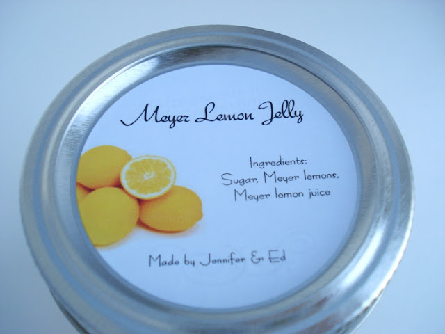 Meyer lemon jelly label