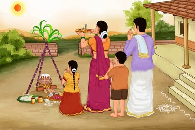 Festival Celebration Drawing Pongal-festival-images