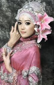 Model Jilbab Pengantin