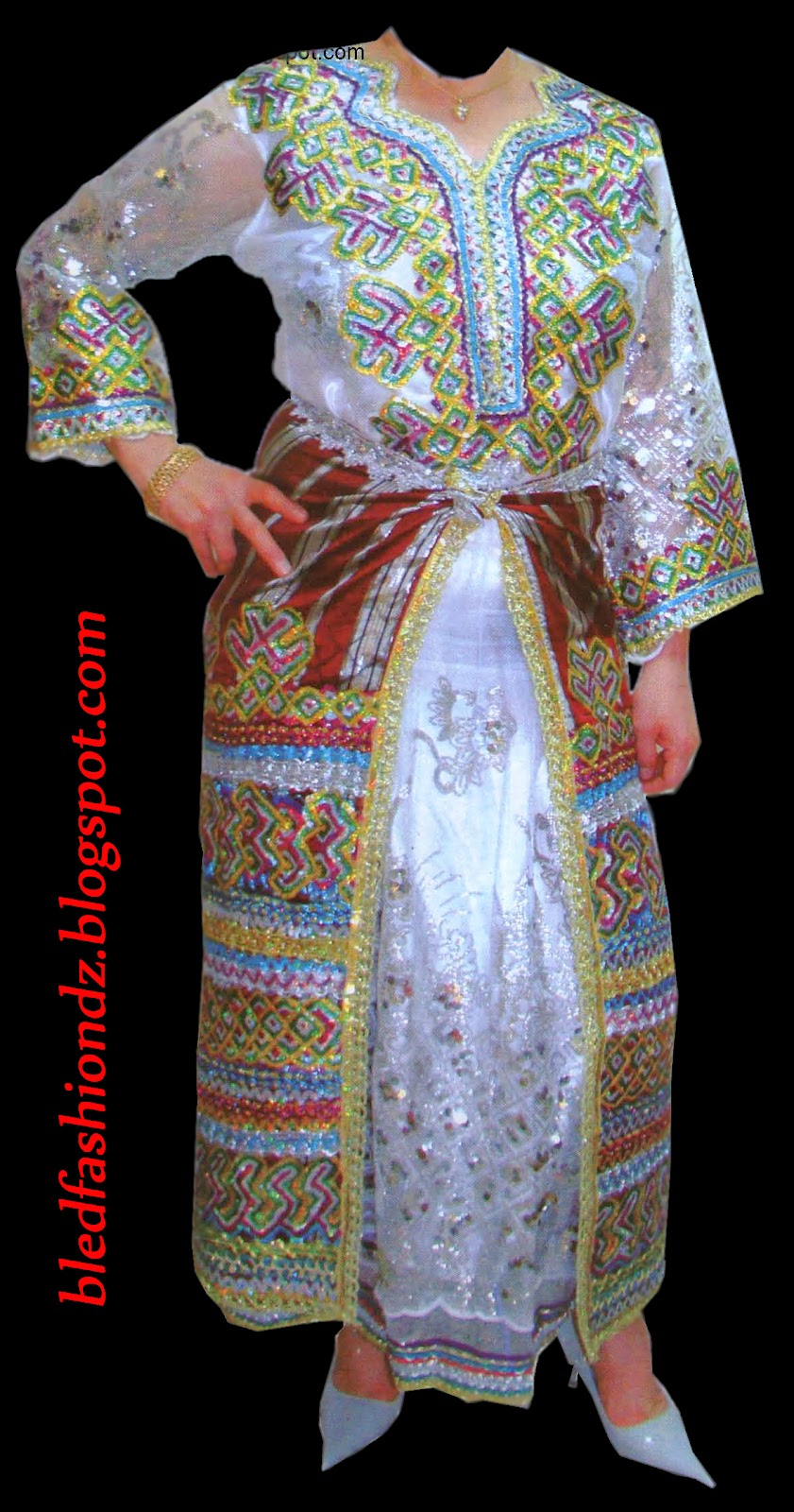 La mode alg rienne robe kabyle for Decoration kabyle