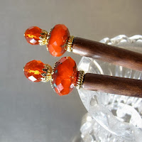orange hair sticks