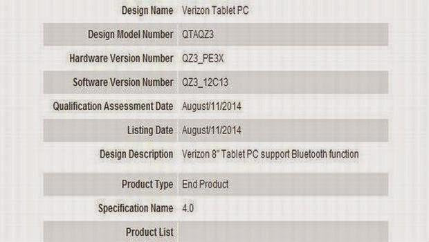 Verizon Akan Bakal Luncurkan Tablet 8.0 Inci