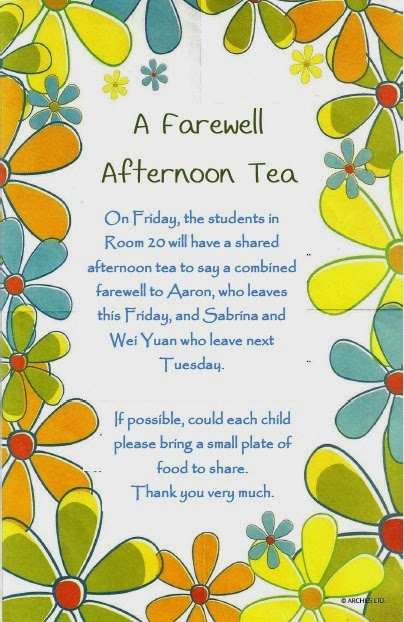 Room 20s Sharing Space Farewell Afternoon Tea On Friday