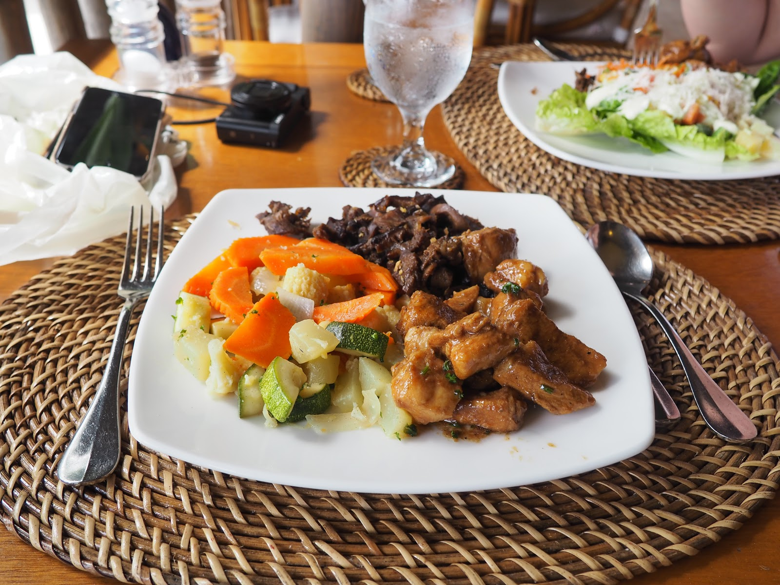 plate of buffet food, Miniloc Island, El Nido