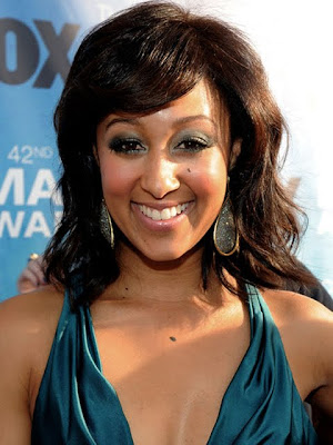 Tamera Mowry Dangling Gemstone Earrings