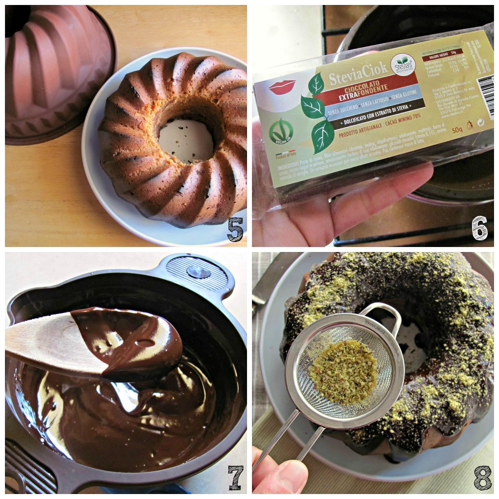 ciambella al pistacchio con zucchero di cocco