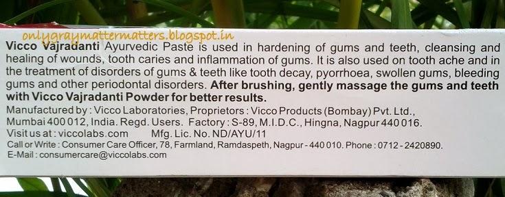 ViccoVajradanti toothpaste review ayurvedic vegan flouride free