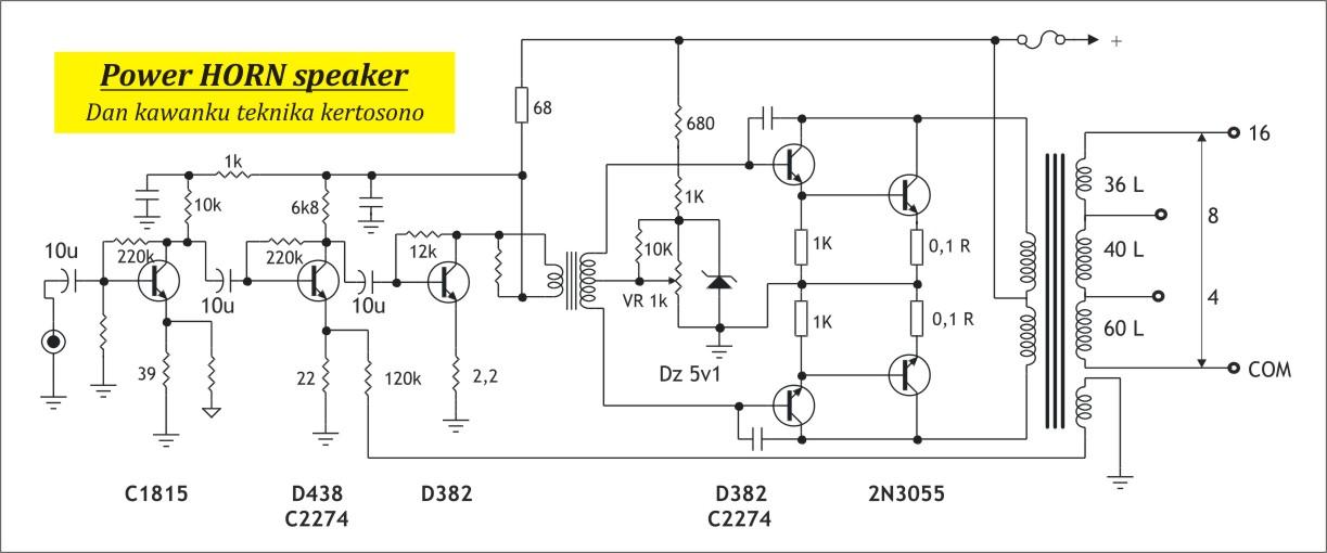dk tech pcb audio power amplifier  skema elektronika