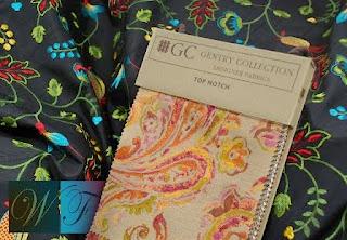 Mandalay, fabric, Top Notch, interior design, embroidery